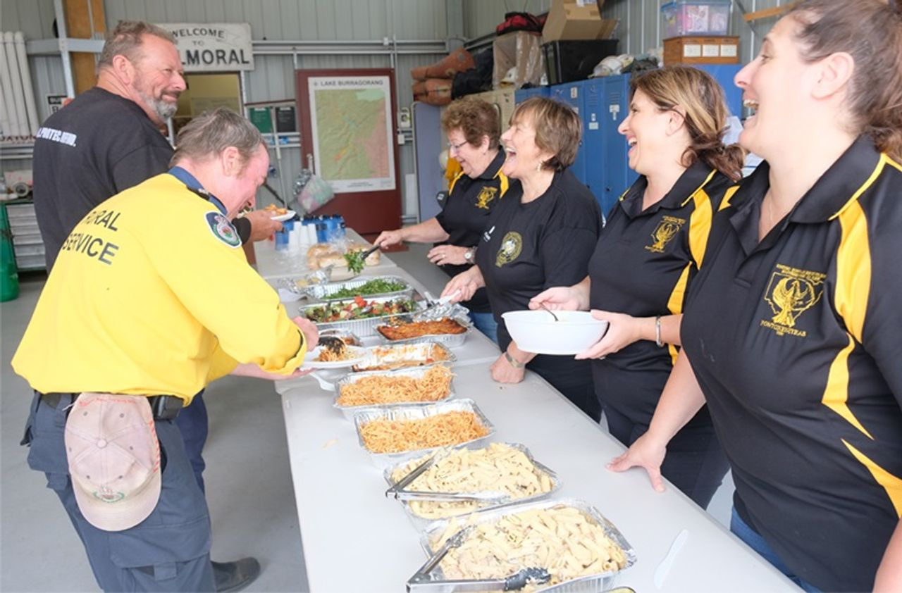 Charity lunch at Balmoral Village RFS