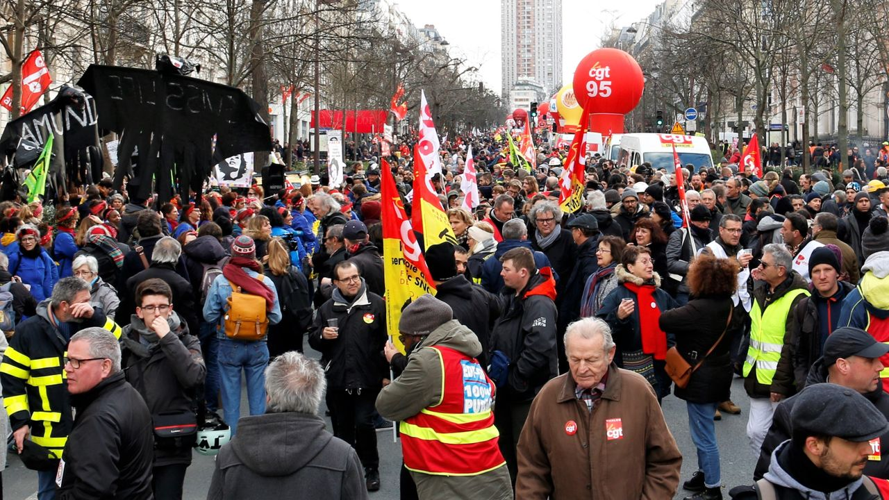 January 29 protest in Paris