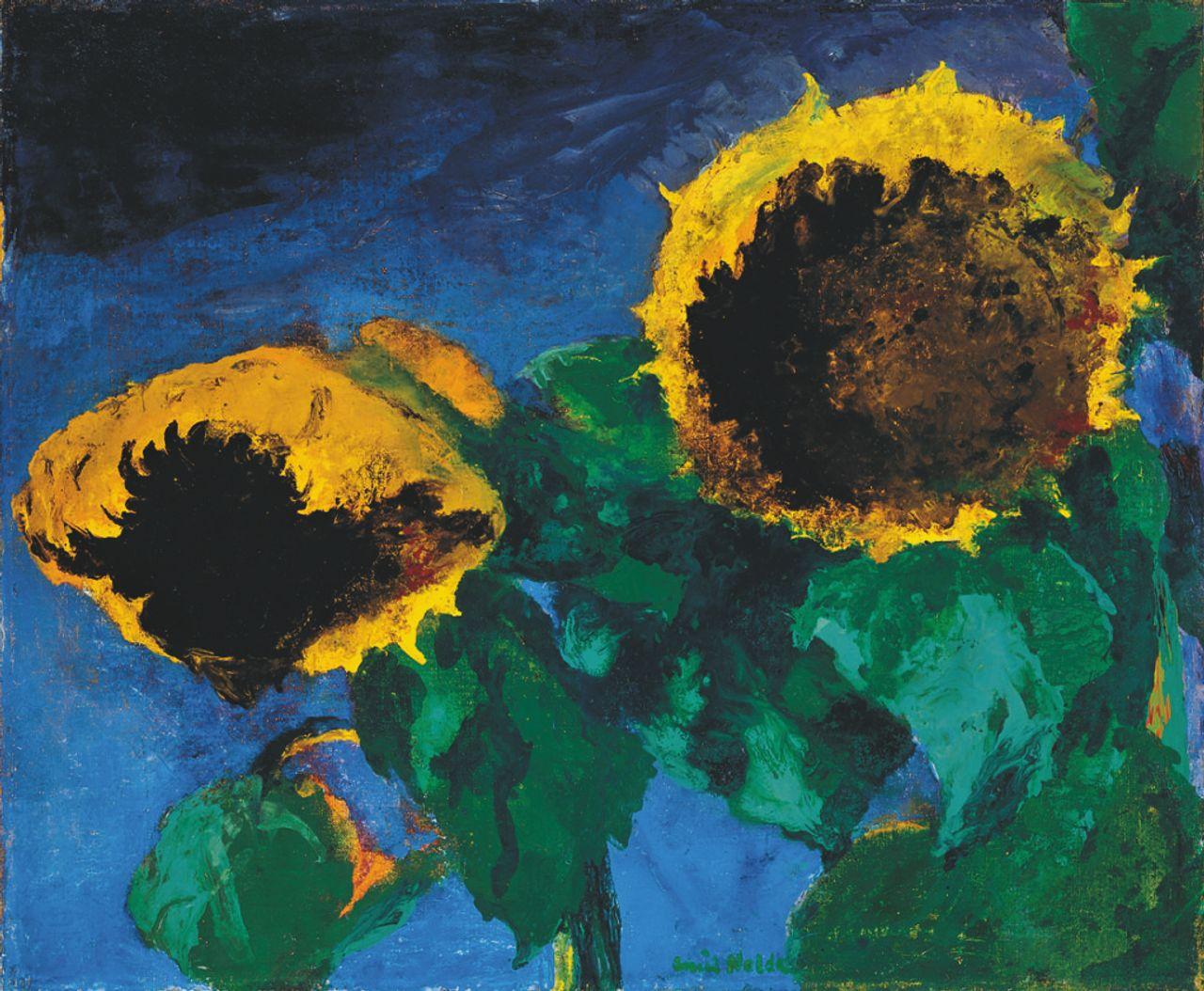 Emil Nolde, Sunflowers (1932). Detroit Institute of Arts, Gift of Robert H. Tannahill, © Nolde Stiftung Seebüll.jpg