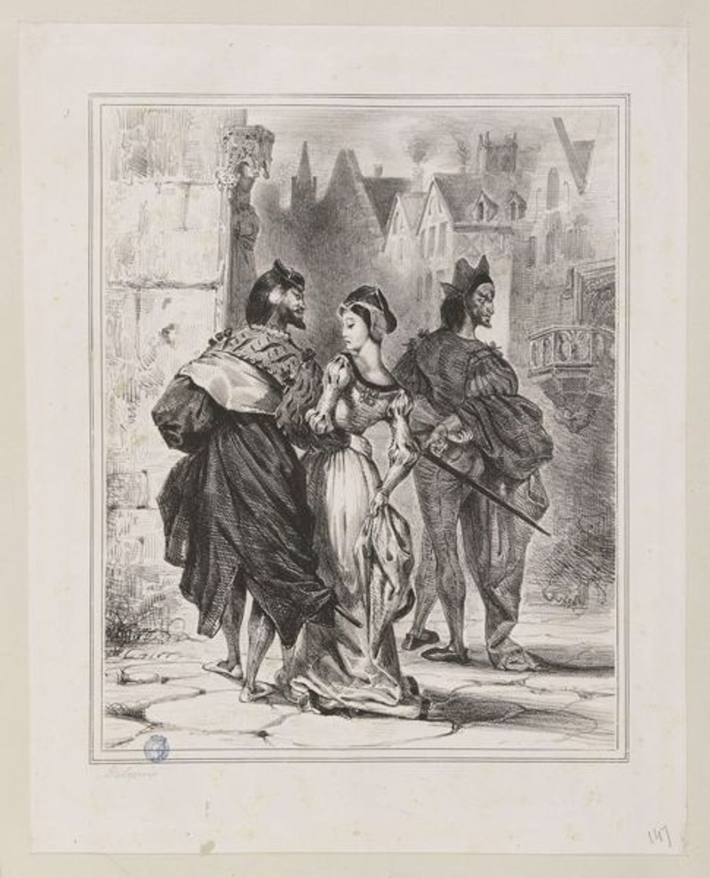 Faust Trying to Seduce Marguerite, 1826-27