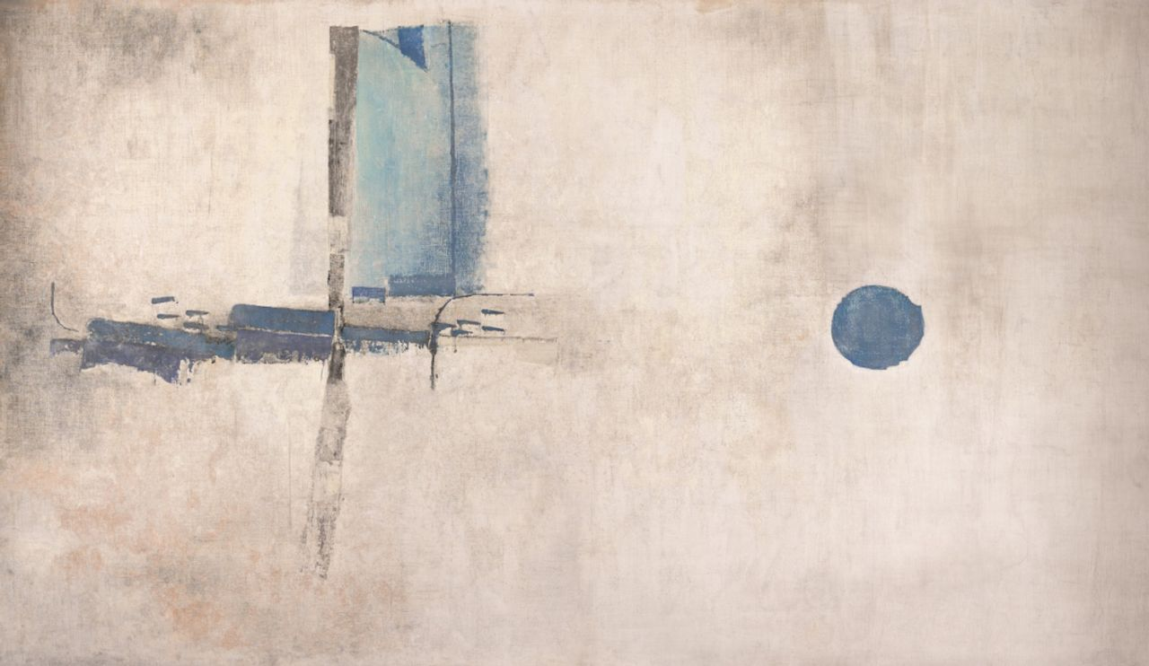 V. S. Gaitonde, Untitled (1962). Oil on canvas