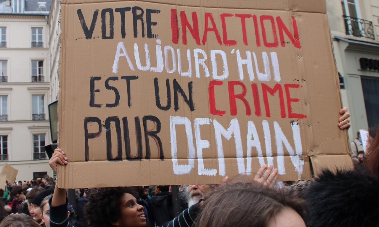Our inaction today is a crime for tomorrow, Paris students say