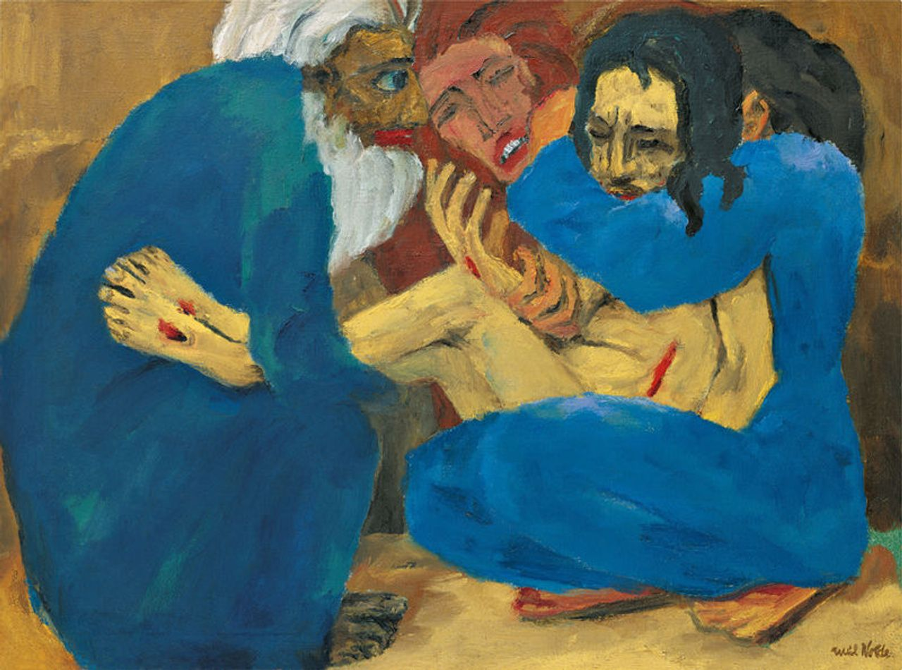 The Burial of Jezus, Emil Nolde, 1915, oil on canvas, 87 x 117 cm, Stiftung Nolde, Seebüll, Nasjonalmuseet, National Museum of Art, Architecture and Design, Norway