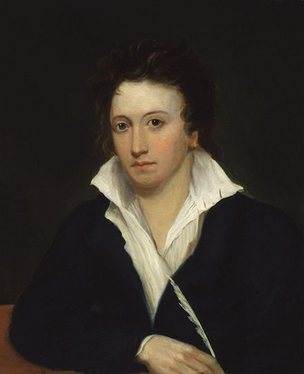 Portrait of Shelley_by Alfred Clint (1829)
