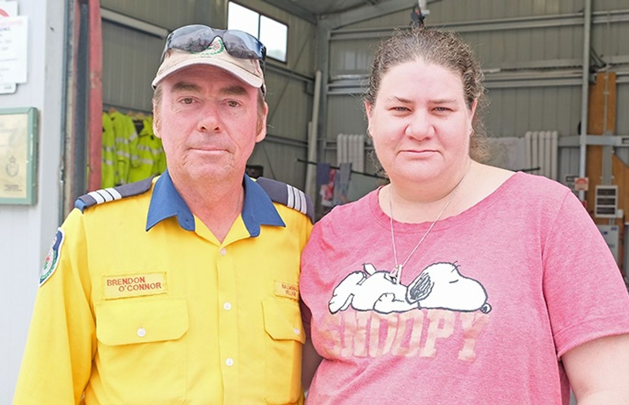 Australian firefighter Brendan O'Connor and his wife Wendy