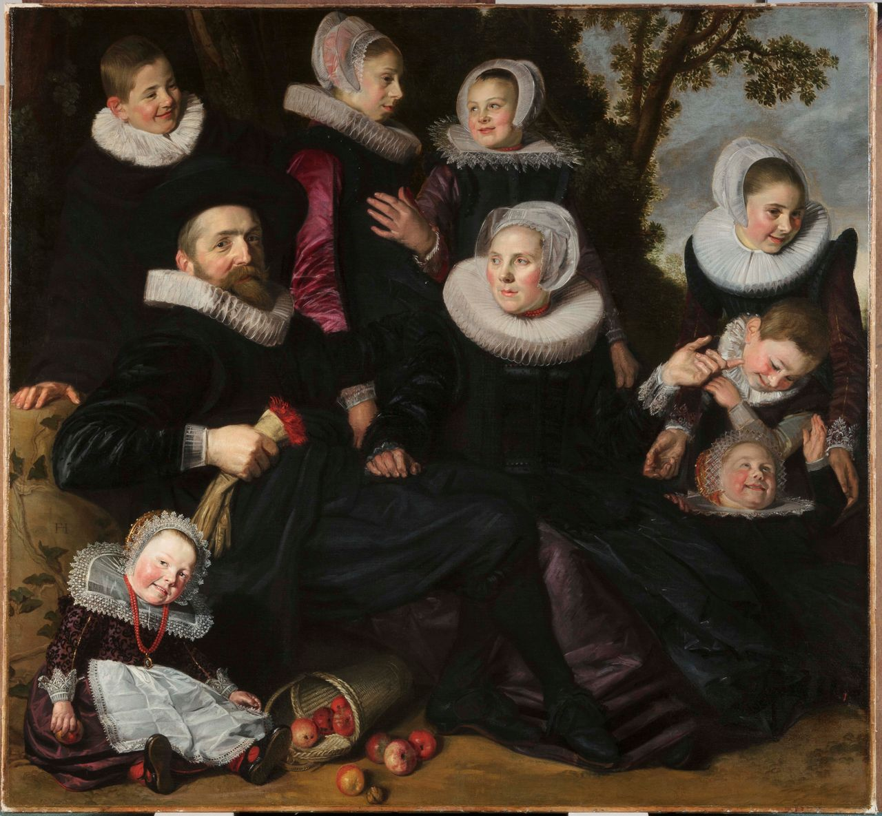 Frans Hals (Dutch, 1582/83–1666), The Van Campen Family in a Landscape (fragment), ca. 1623–25, oil on canvas. 151 x 163.6 cm. Toledo Museum of Art, Toledo, Ohio, inv. 2011.80