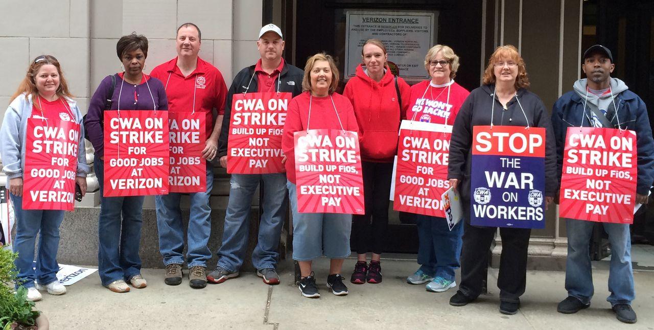 Union protests continue as Verizon cuts health coverage