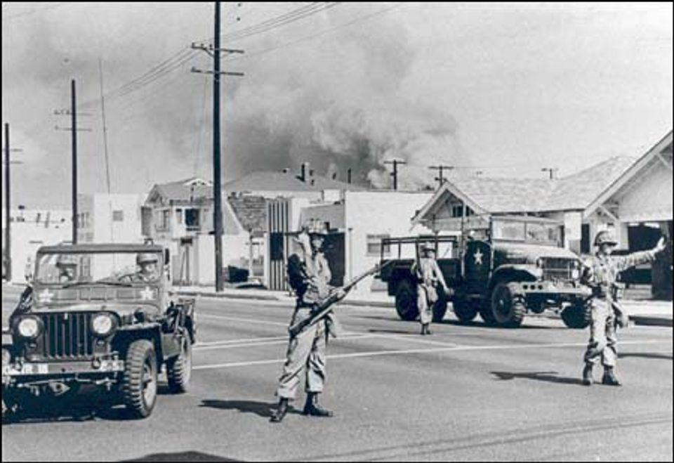 how the watts riots on august 11 1956 in los angeles affected history Burned residence from watts riots, los angeles in some ways our current conversation about these issues began more than 50 years ago, on august 11, 1965, when a confrontation between a black driver and white police officers in the watts neighborhood of los angeles exploded into urban.