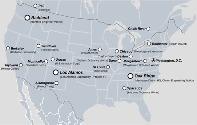Manhattan Project Fallout Nuclear Waste Health Catastrophe In St - Us nuclear waste sites map