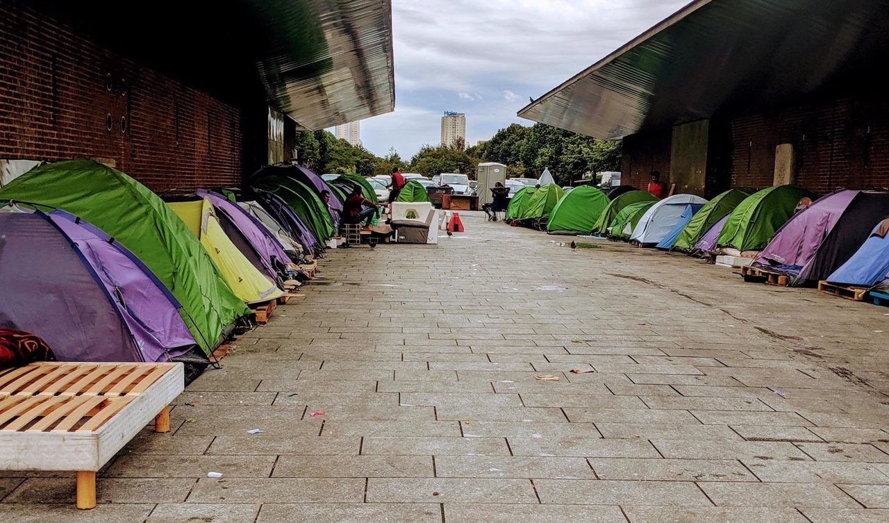 Another refugee encampment in Saint-Denis