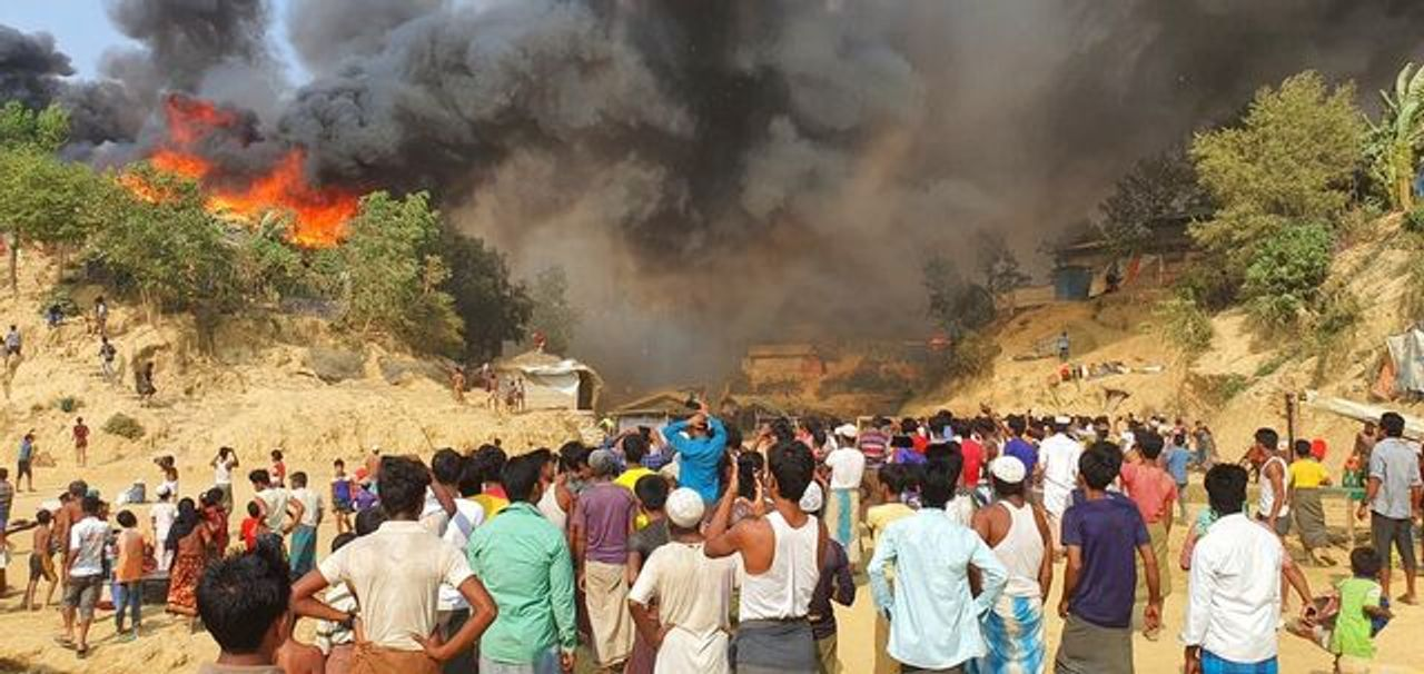 The Bangladesh refugee camp inferno and capitalism's global war on migrants