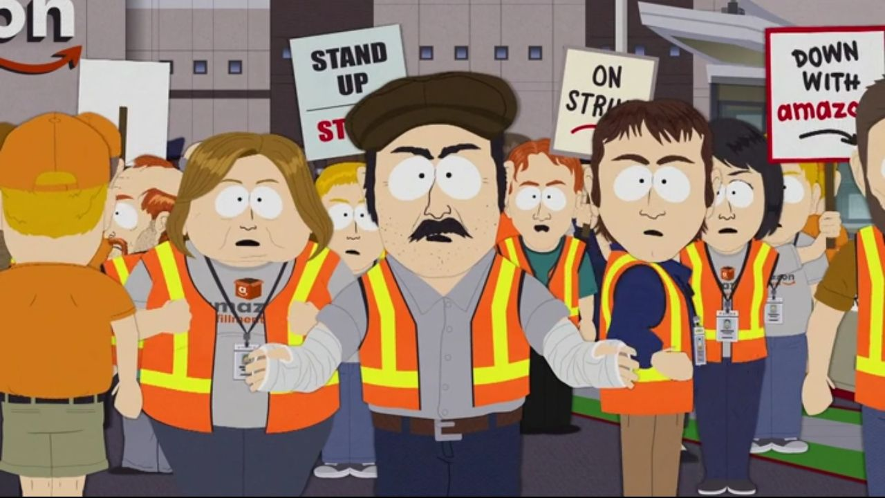 Amazon workers in South Park