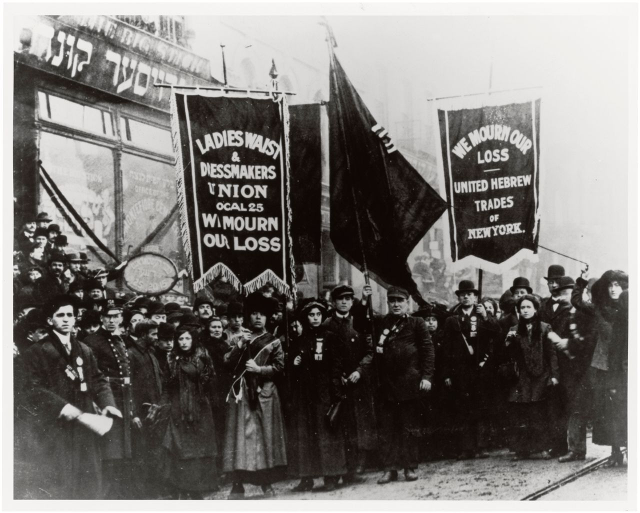 1911 protest after the Triangle Shirtwaist factory fire killed 146 young immigrant workers