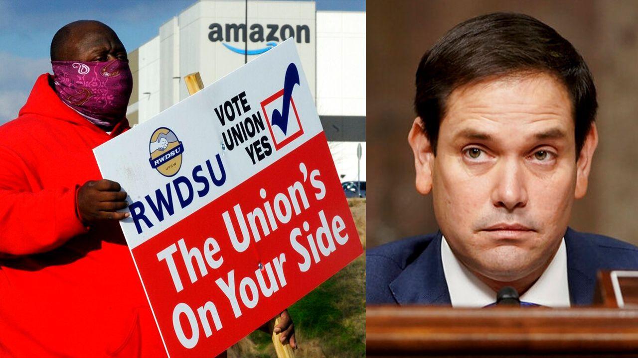Republican Senator Marco Rubio endorses unionization drive at Alabama Amazon warehouse