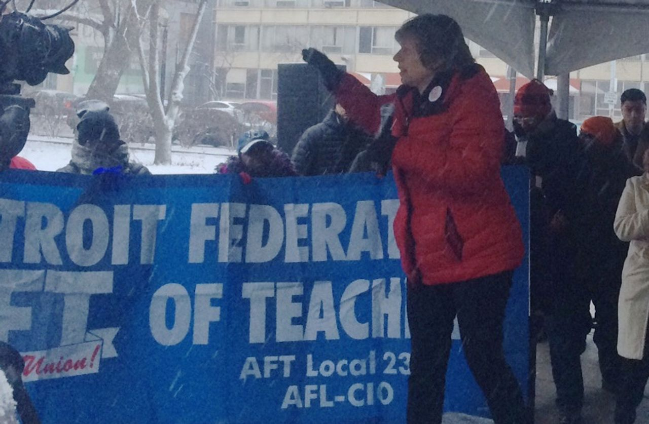National teachers' union leader seeks to smother Detroit protests ...