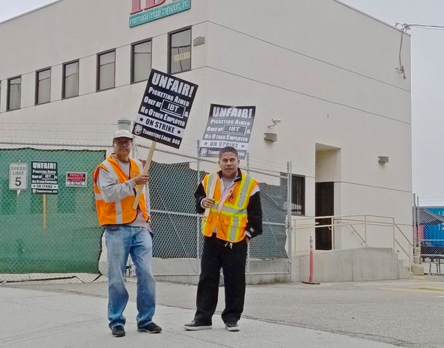 Striking Los Angeles Long Beach Port Truck Drivers Speak