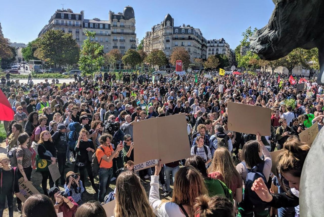 The protest in Paris