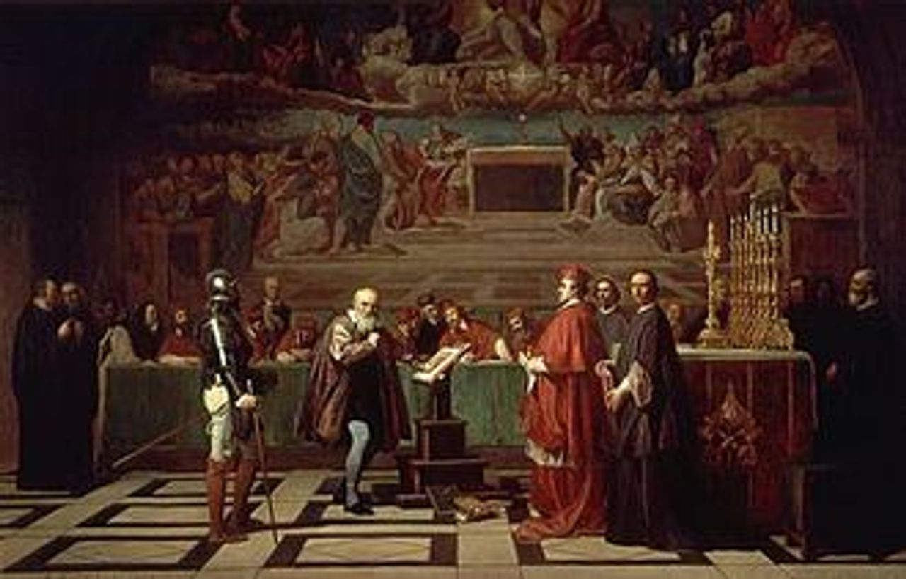 Galileo before the Holy Office, painted by Joseph-Nicolas Robert-Fleury