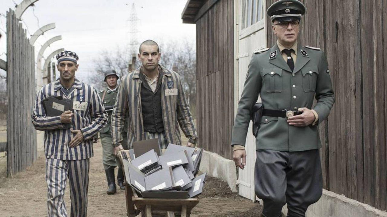 Mario Casas and Richard van Weyden in The Photographer of Mauthausen