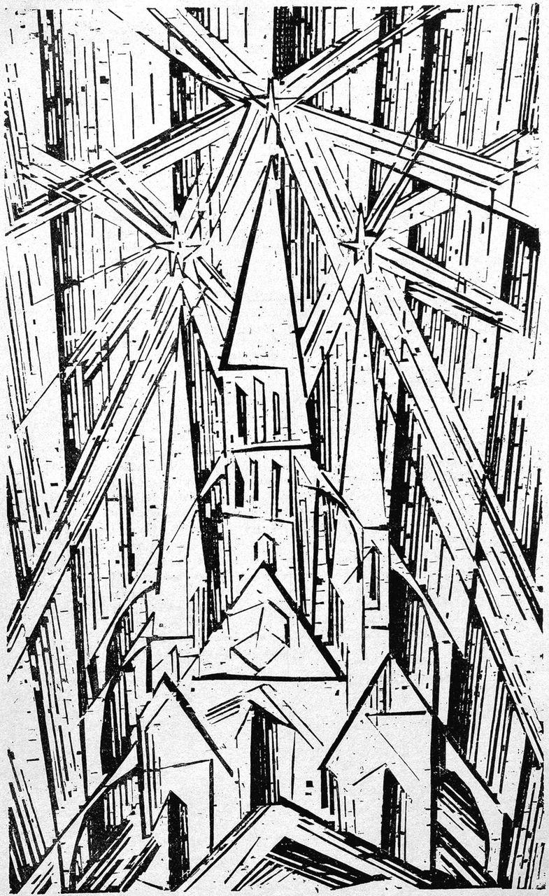 Lyonel Feininger, Bauhaus Manifesto, 1919