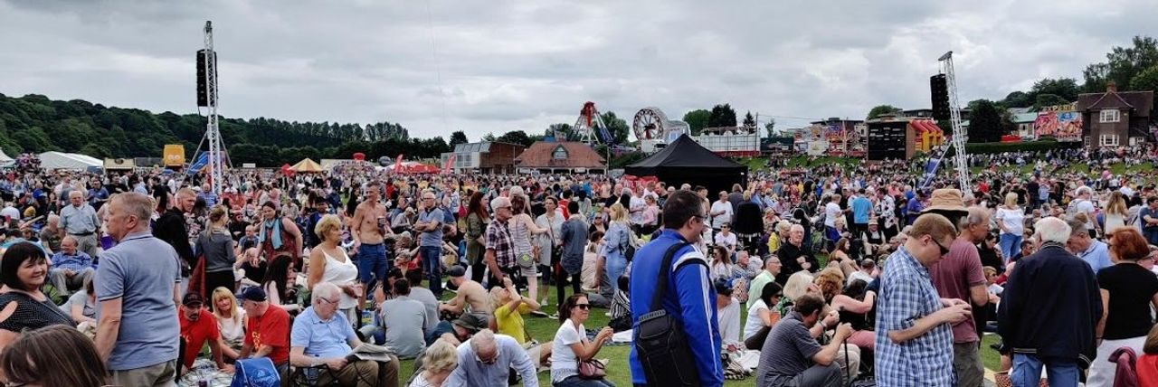 A section of the crowd at the Durham Miners Gala
