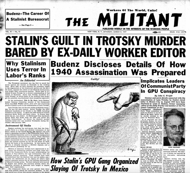 Image result for the militant socialist weekly us trotsky
