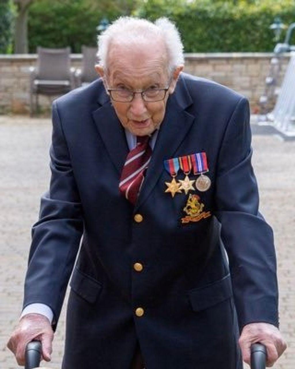 British World War II veteran Captain Tom Moore [Credit: Twitter @captaintommoore]