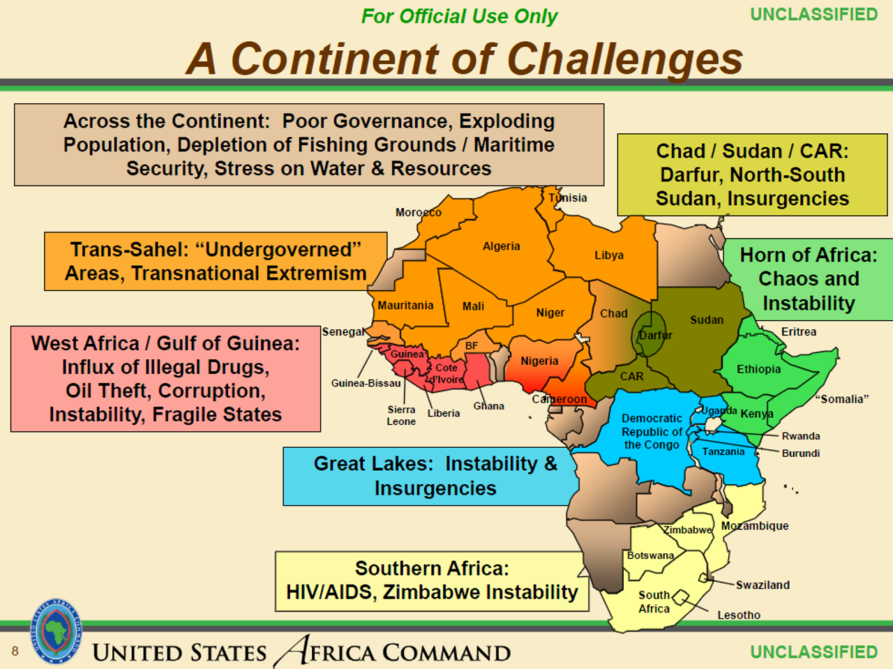 AFRICOM internal slide