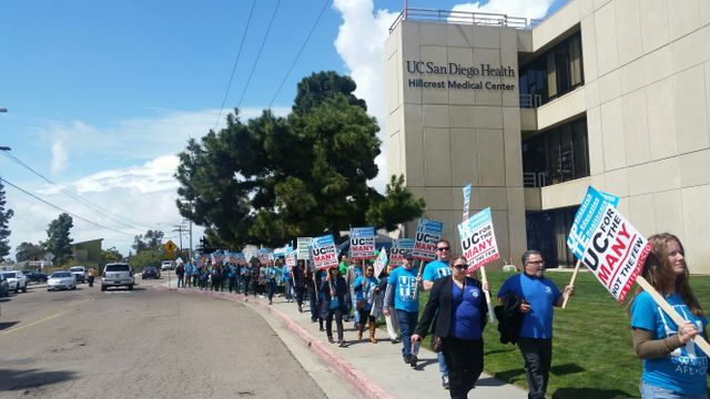 Thousands hold one-day strike at University of California