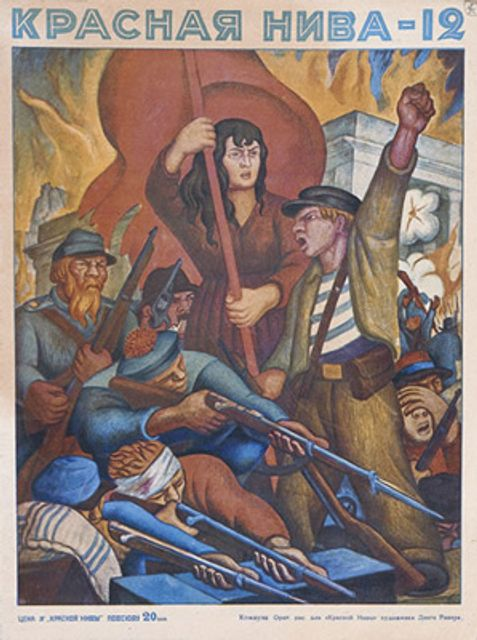 Image result for Paintings of workers marching in revolution pics.