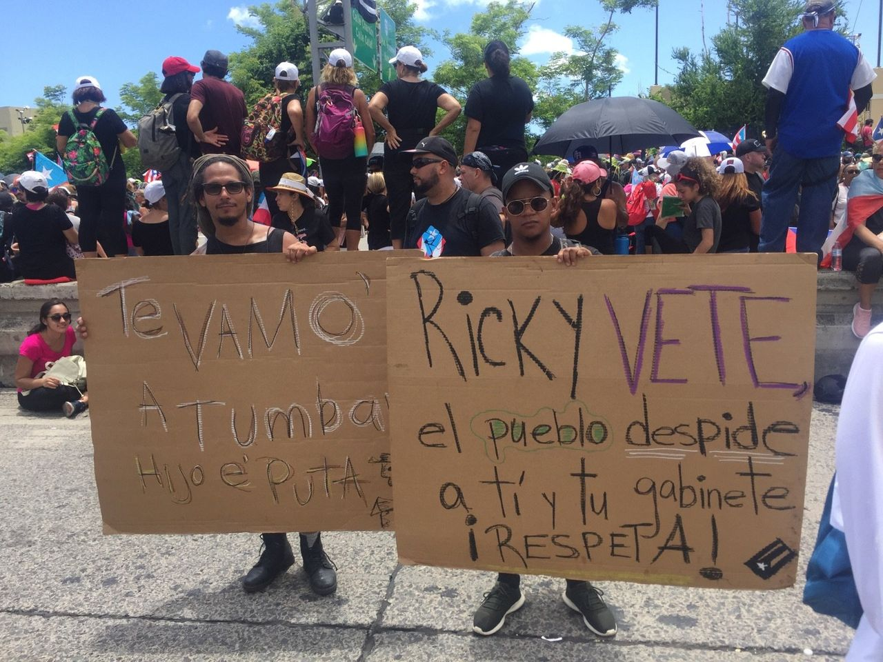 Protesters demand the resignation of Governor 'Ricky' Rosselló