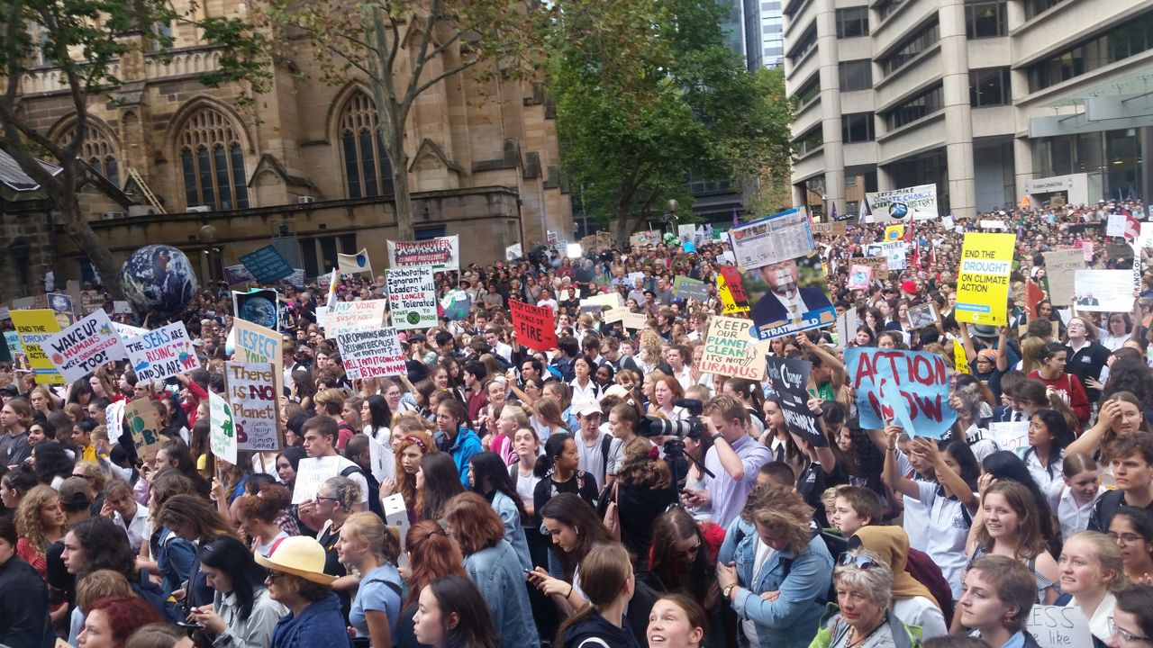 Part of the Sydney rally