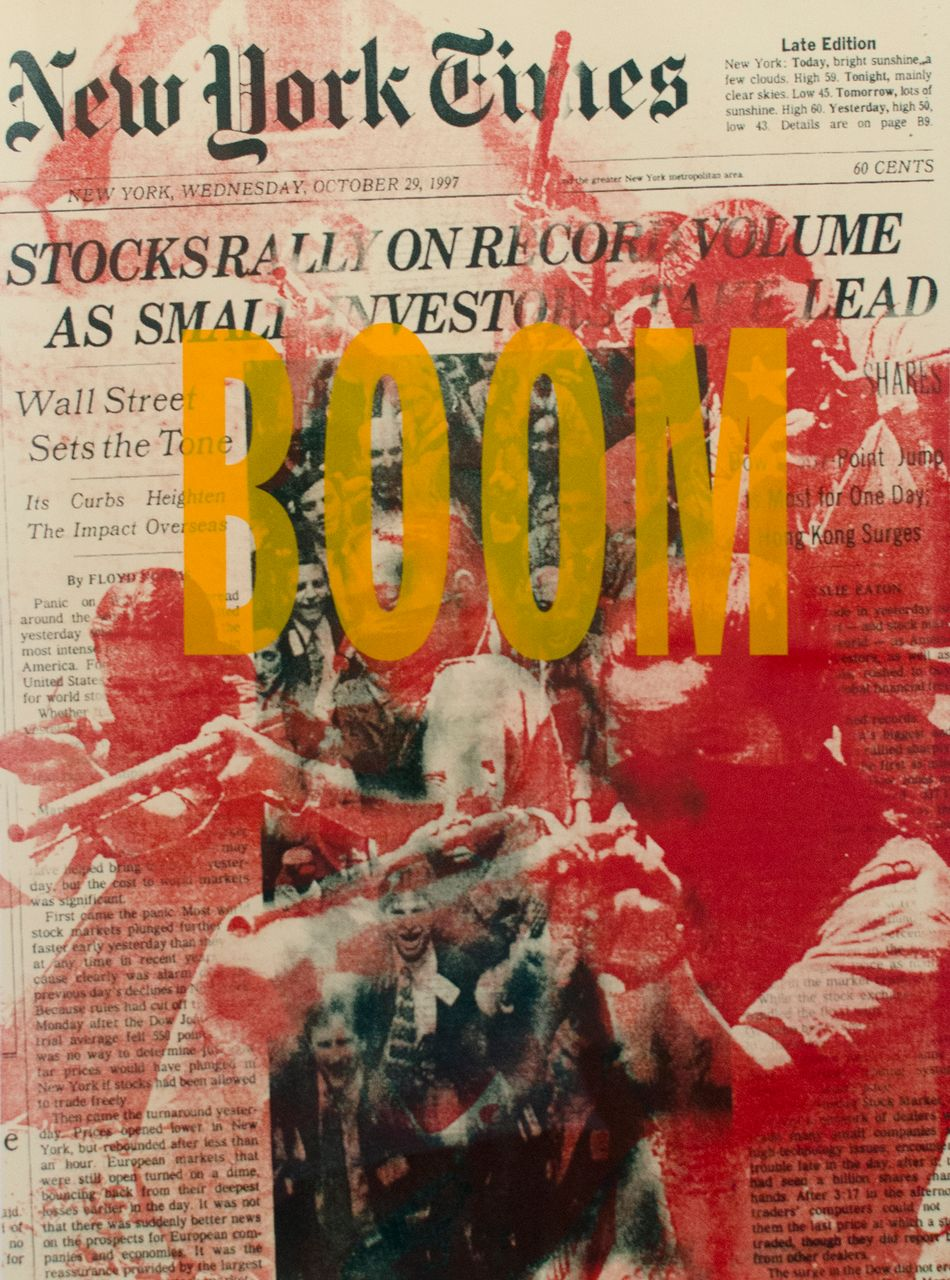 Boom! : Boom, Dread Scott, screenprint, 2001