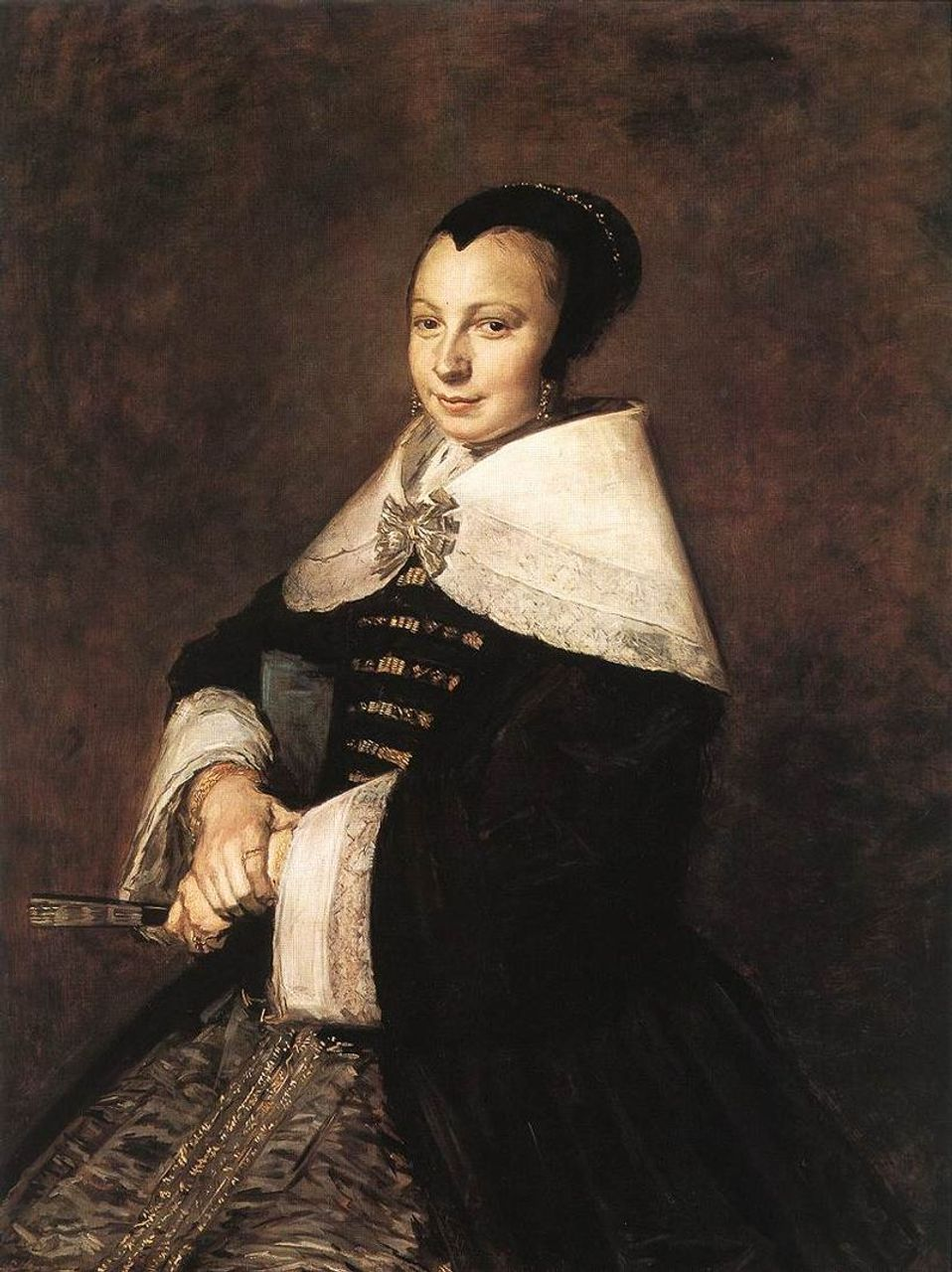 Frans Hals, Portrait of a Seated Woman Holding a Fan, c. 1650, Taft Museum of Art, Cincinnati, Ohio