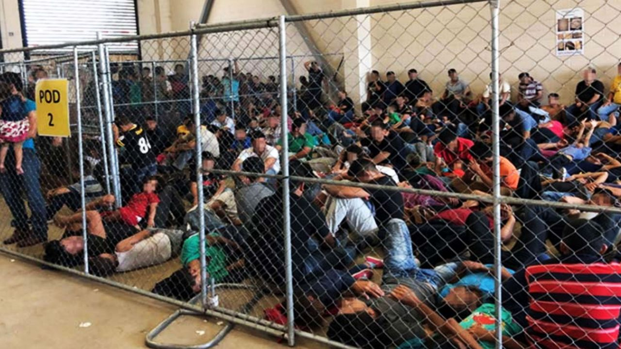 Immigrant families held in overcrowded Border Patrol detention center in McAllen, Texas [Credit: OIG]