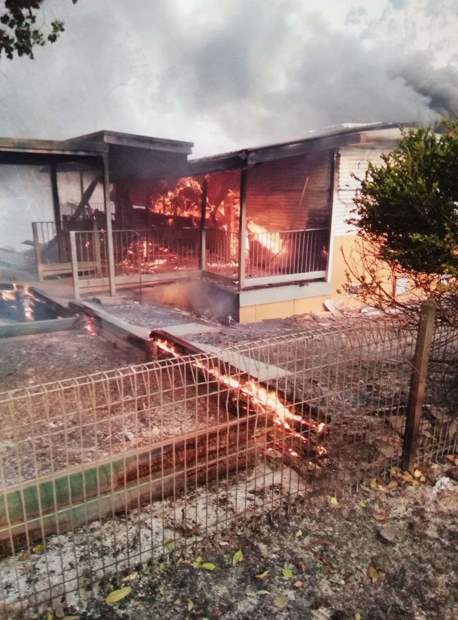 Bobin public school during the fire, supplied by local resident