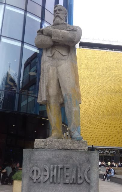 Image result for engels statue manchester
