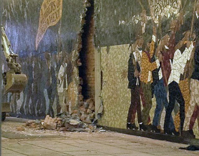 Britain labour council destroys newport chartist uprising for Chartist mural newport