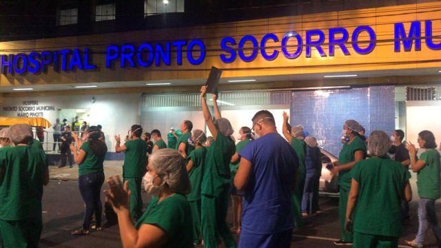 Huelgas y protestas de enfermeros brasileños en medio de una ...