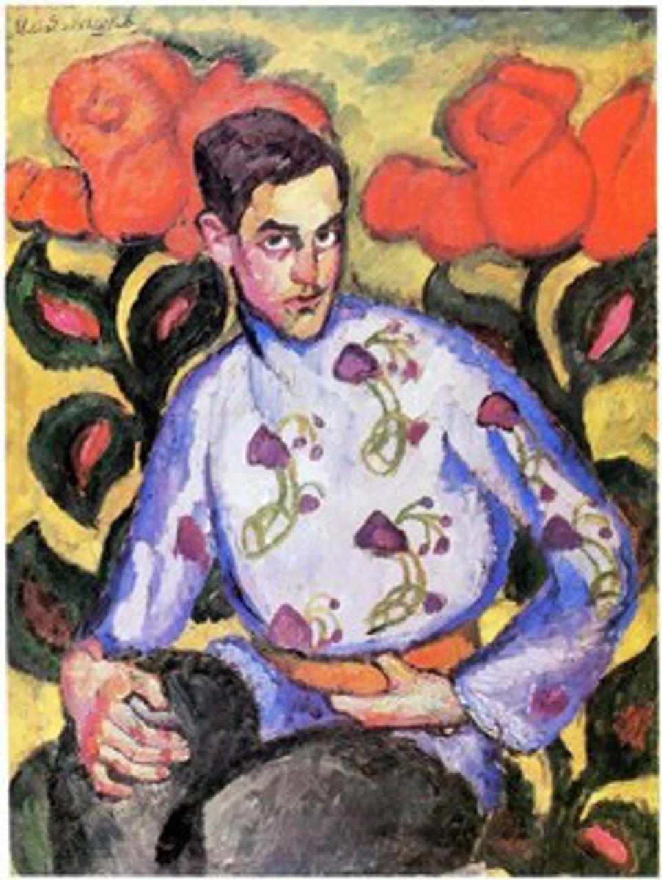 Ilya Mashkov, Portrait of a Boy in a Painted Shirt