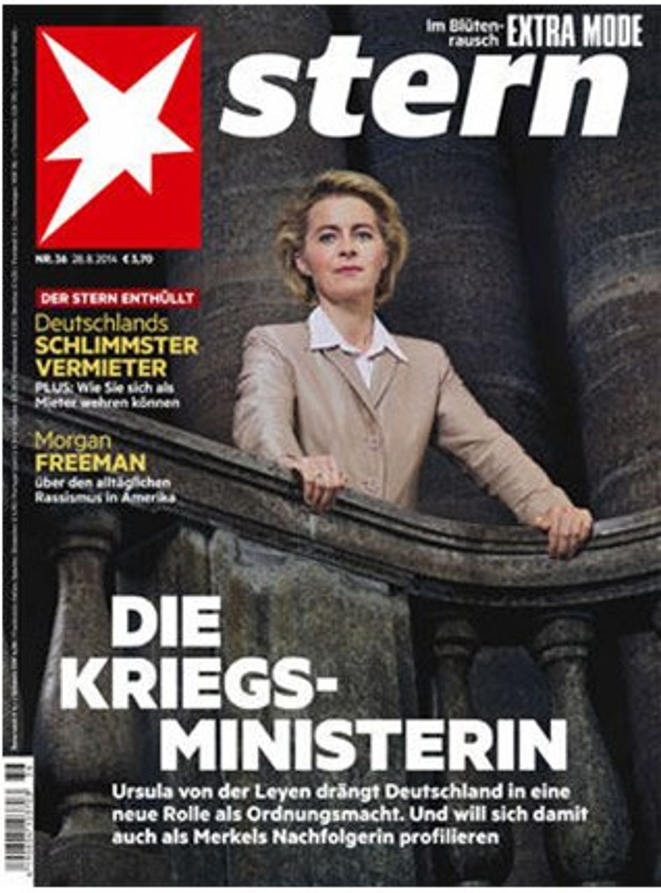 Defence Minister Ursula von der Leyen on the cover of Stern magazine