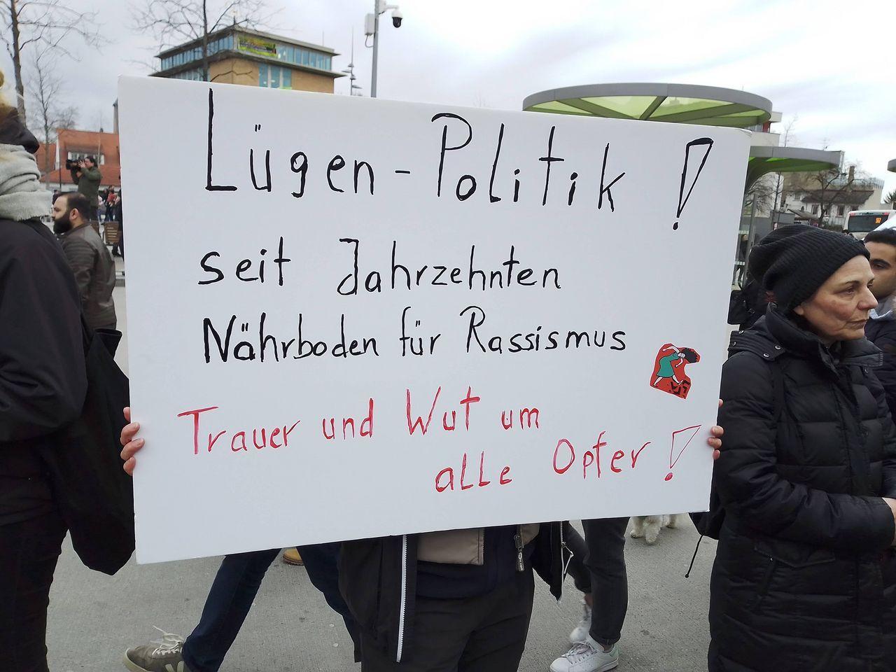Birgit with poster