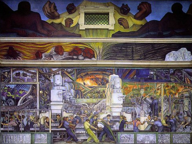 a review of diego riveras many frescoes detroit industry Important art by diego rivera with artwork analysis of achievement and overall contribution to the arts share  the detroit industry fresco cycle (1932-33.