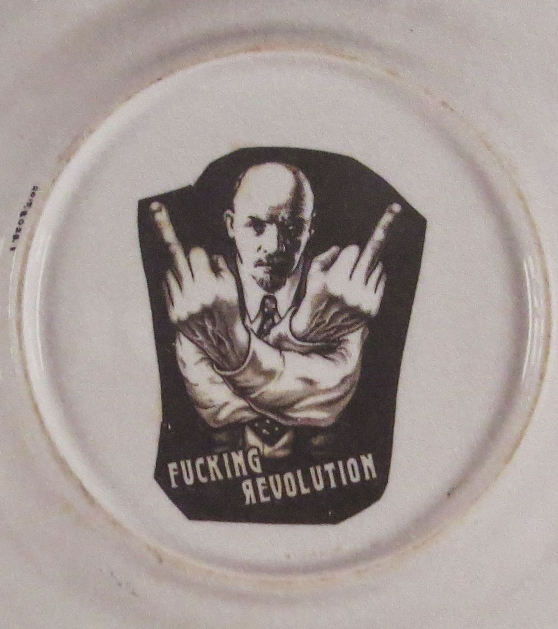 Lenin image on plate, after 1989, courtesy of the British Museum