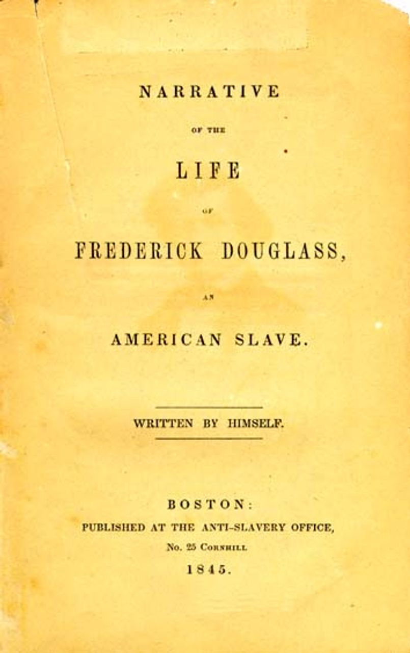 Title page of the 1845 edition of Narrative of the Life of Frederick Douglass, An American Slave