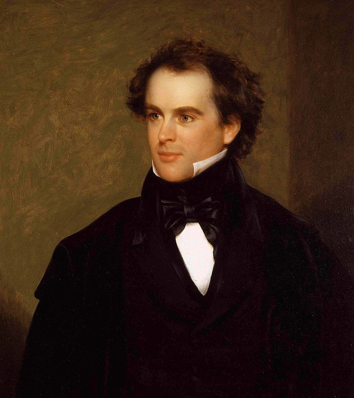 Portrait of Nathaniel Hawthorne by Charles Osgood, 1841 (Peabody Essex Museum)