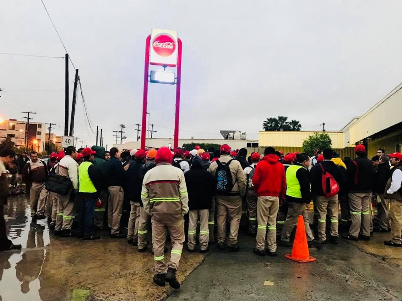 Matamoros Coca-Cola workers on strike