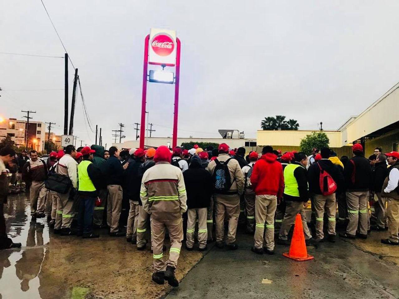 Matamoros Coca-Cola workers on strike