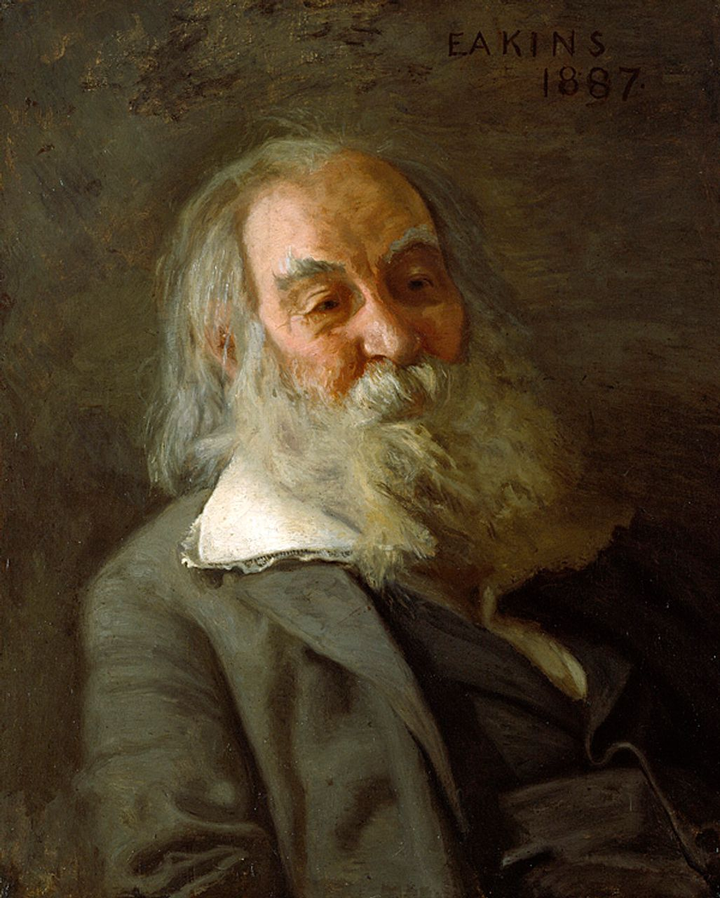 Walt Whitman by Thomas Eakins, 1887-88