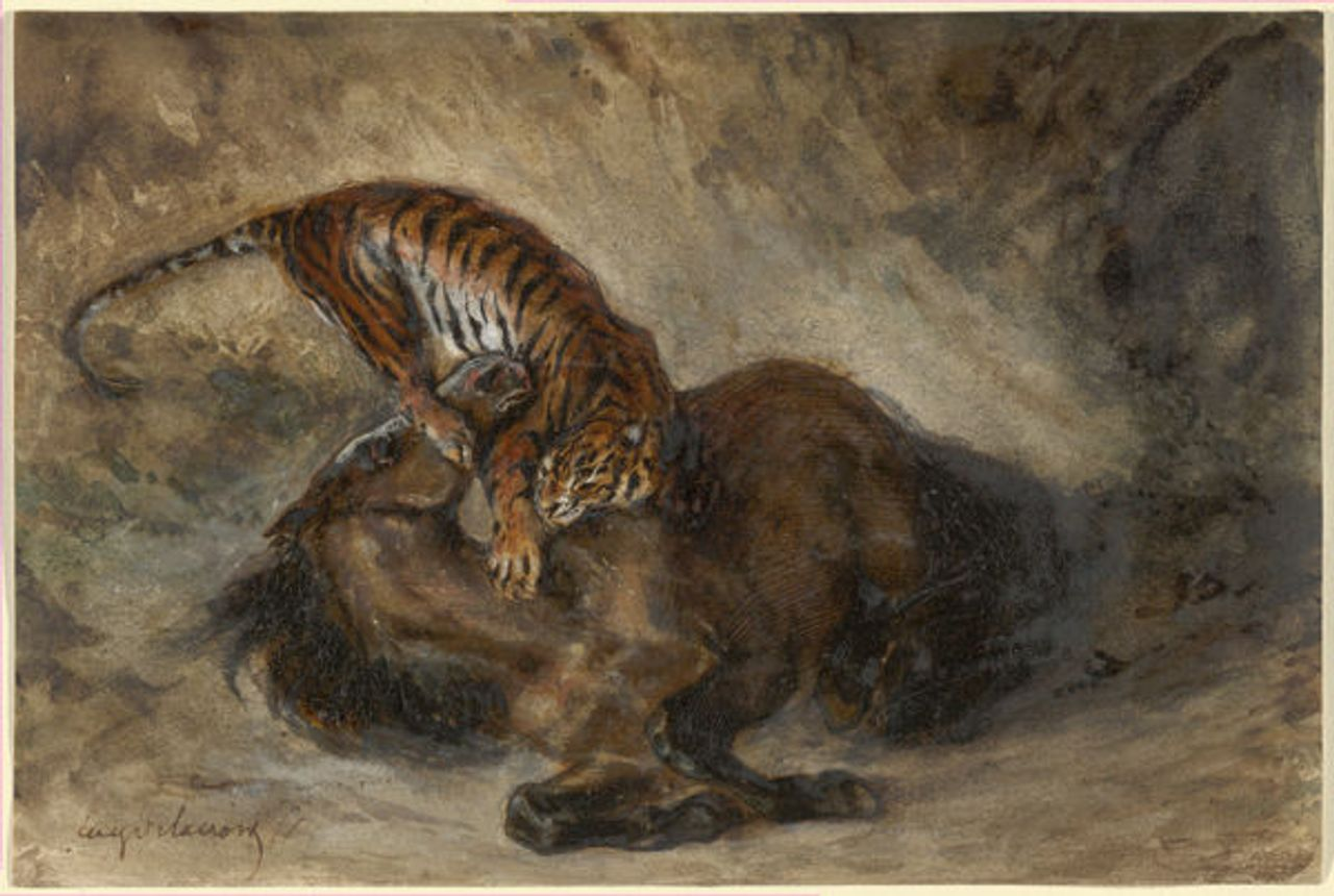 Wild Horse Felled by a Tiger, 1828